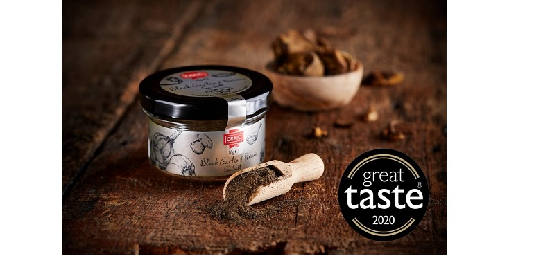 Craic Foods Black Garlic & Porcini Sea Salt
